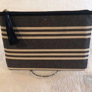 🎉HP🎉 Kate Spade Larchmont Fabric Stripe Gia Navy